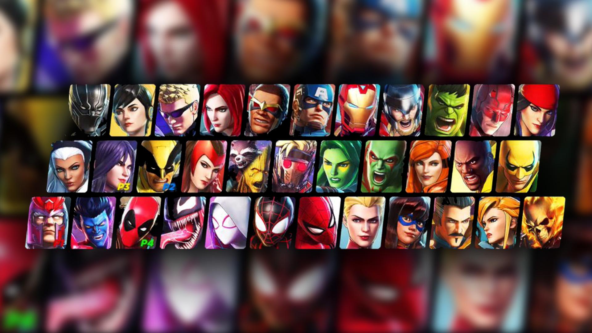 Kuvassa kaikki pelin valittavat hahmot.
