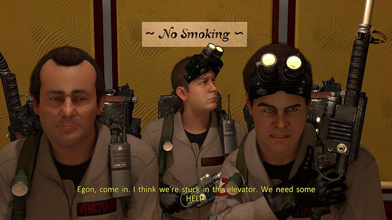 Venkman, Rookie ja Stantz hississä