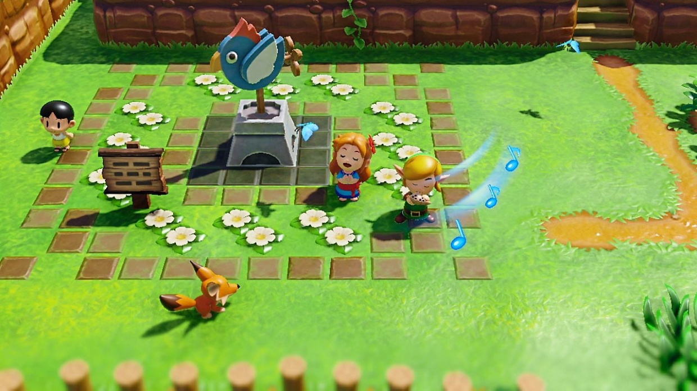 The Legend of Zelda: Link's Awakening -pelimaalimaa Switchillä.