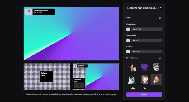 Twitch Studion käyttöliittymä.