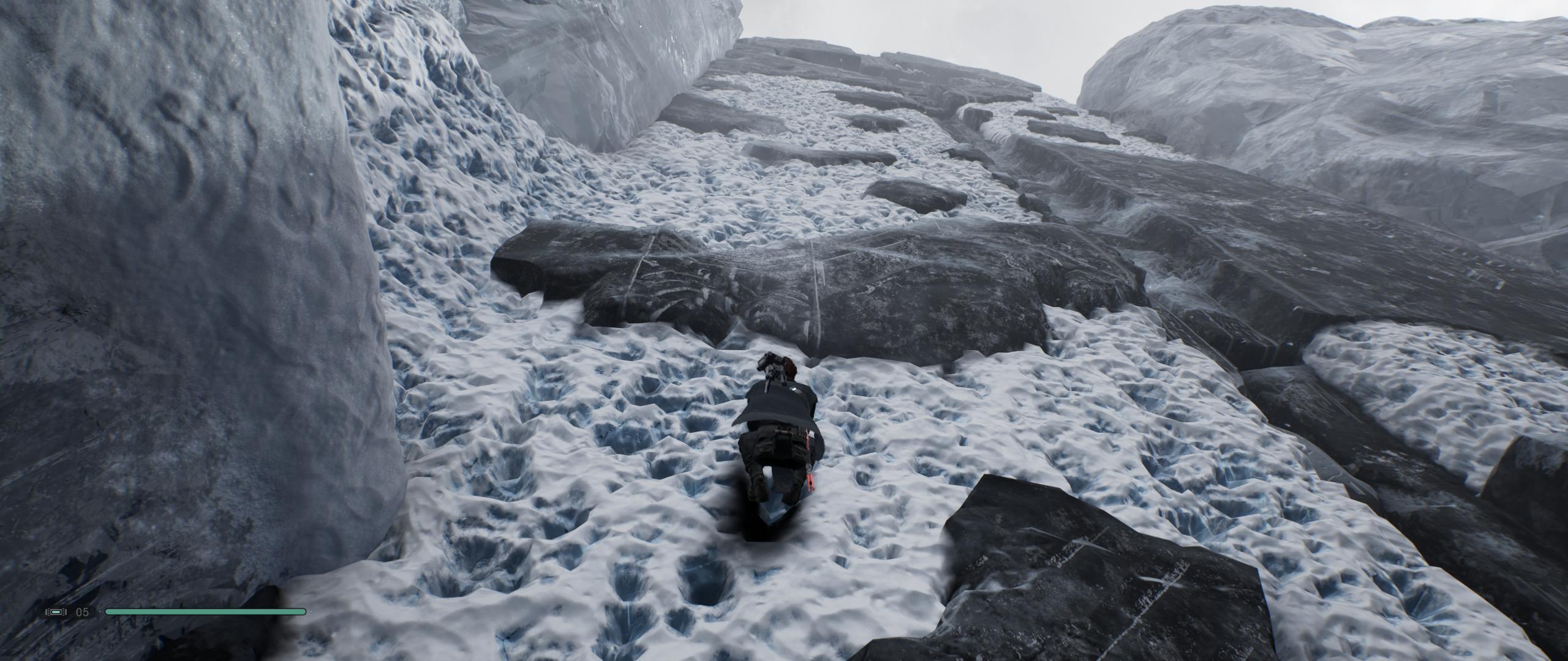 Vuorikiipeilykohtaus.