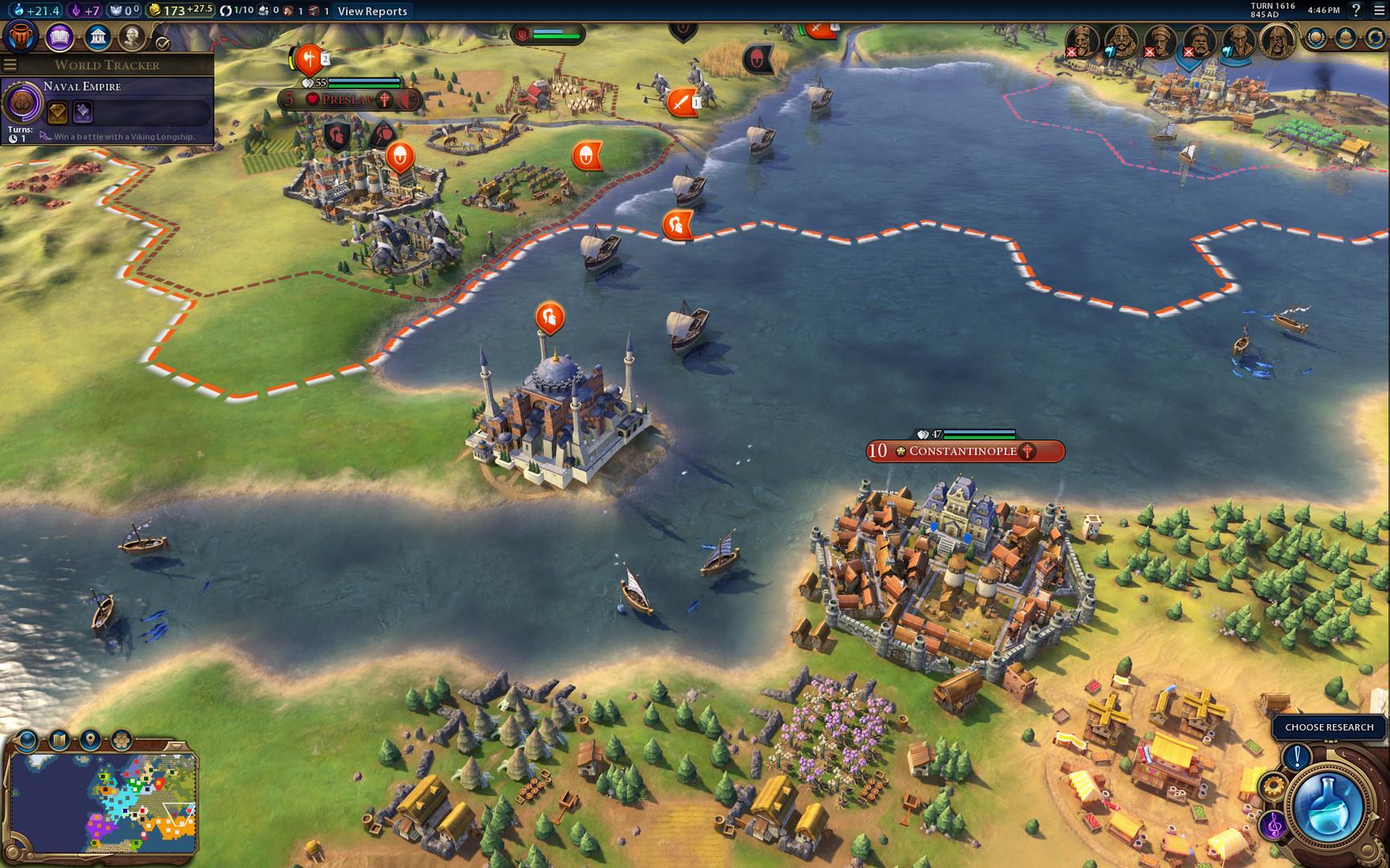 Sid Meier's Civilization VI -pelin karttaa.