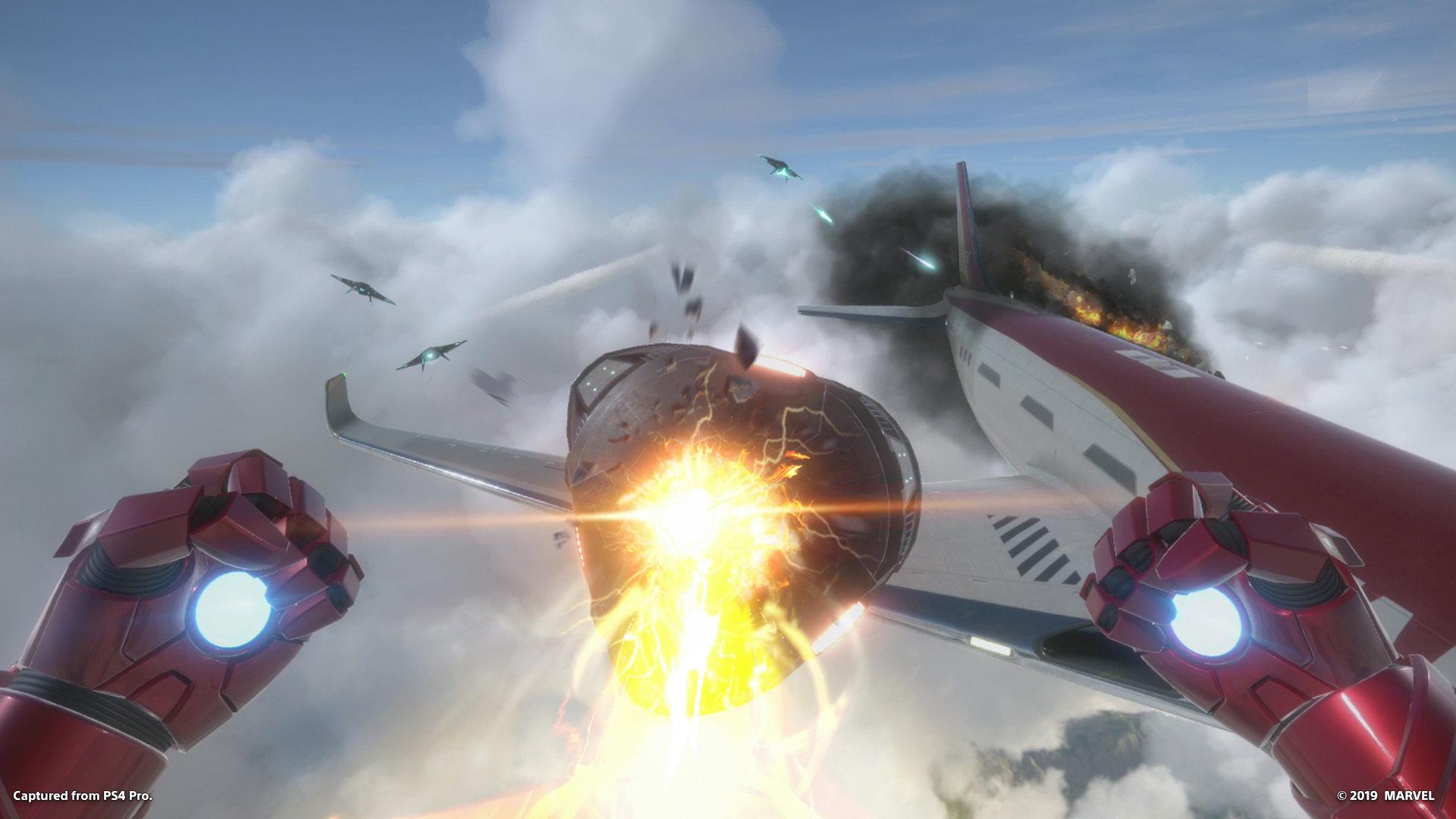 Marvel's Iron Man VR -pelin toimintakuvaa.