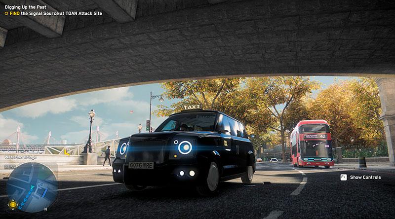 Watch Dogs: Legion -pelin Lontoon taksi.
