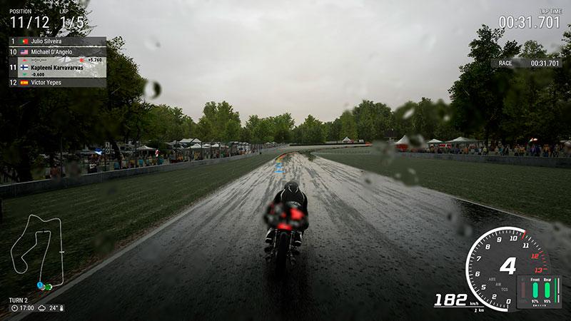 Ride 4 -pelikuvaa sadekelistä.