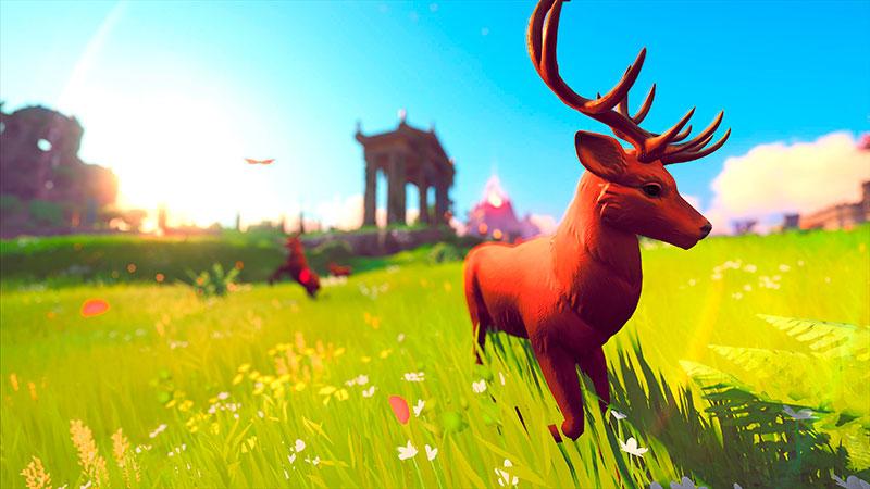 Immortals: Fenyx Rising -pelin eläinten kauneutta.