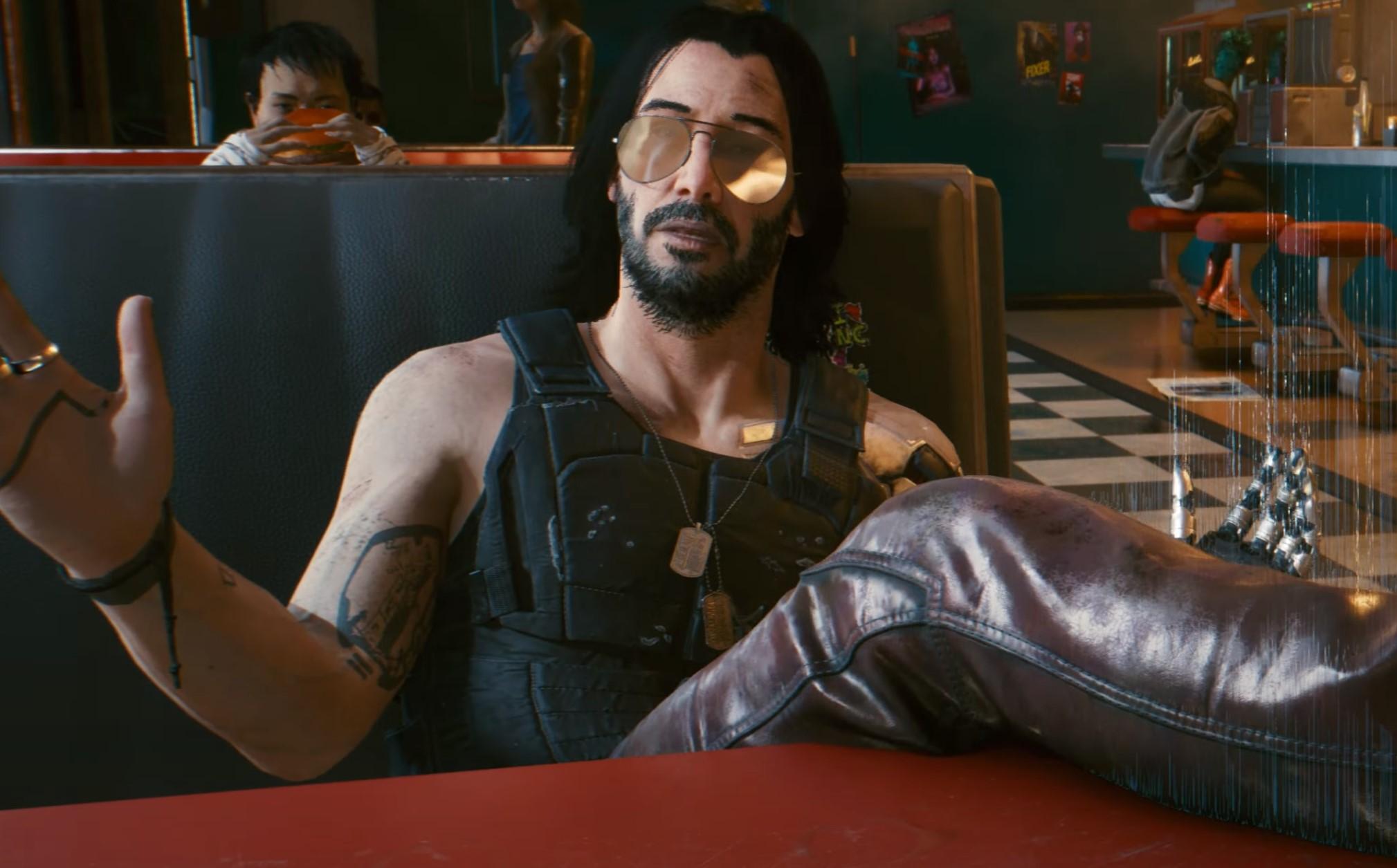 Cyberpunk 2077:n versio Keanu Reevesista.