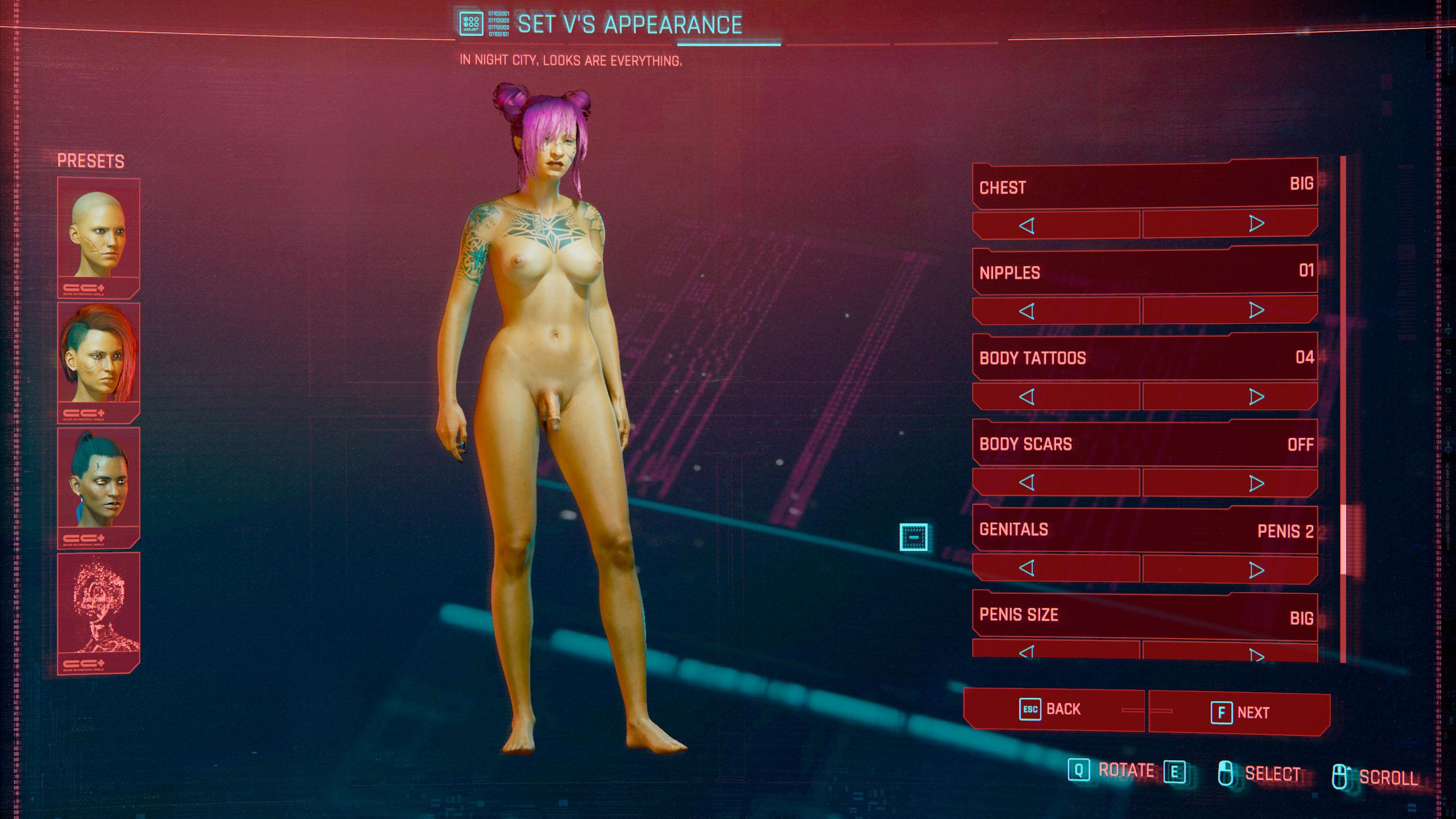 Transhahmo Cyberpunk 2077 -pelissä.